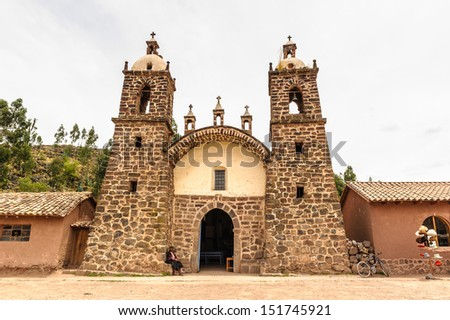 Viracocha Temple, Cusco region, Peru - stock photo
