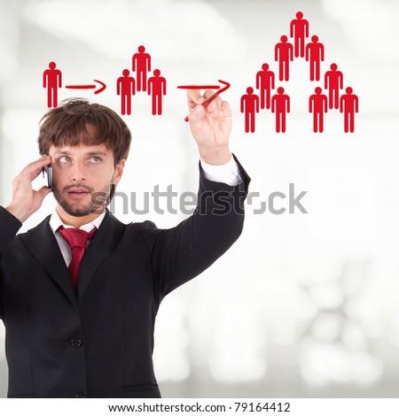 Viral marketing - stock photo