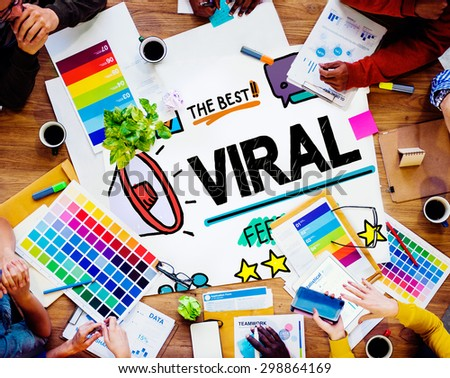 Viral Marketing Spread Review Event Feedback Concept - stock photo