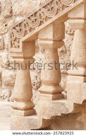 virgin mary church Mardin - stock photo