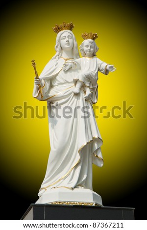 Virgin Mary (Mother Mary) with Baby Jesus - stock photo