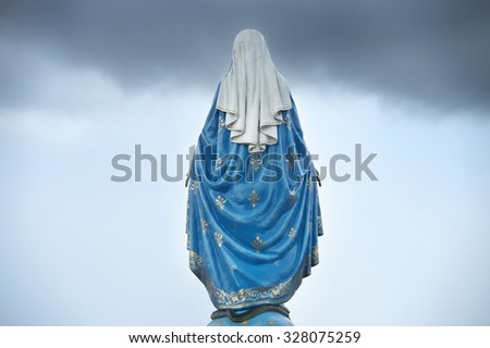 Virgin mary statue - stock photo