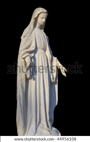 Virgin Mary with clipping path. - stock photo