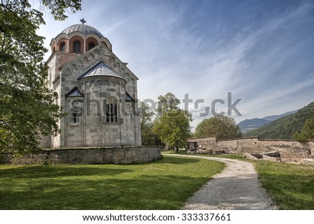 Virgin's church of Studenica monastery  in Serbia