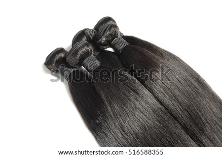Virgin straight afro coarse human hair bundles for hair weave extensions
