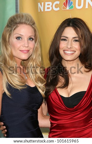 Virgina Williams and Sarah Shahi at the NBC Summer Press Tour Party, Beverly Hilton Hotel, Beverly Hills, CA. 07-30-10 - stock photo