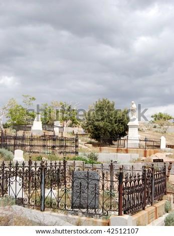 Virginia City, Nevada Graveyard - stock photo