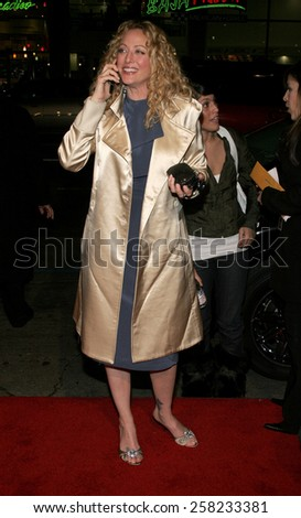 "Virginia Madsen attends the Warner Bros World Premiere of ""Firewall"" held at the Grauman's Chinese Theatre in Hollywood, California on February 2, 2006 ."