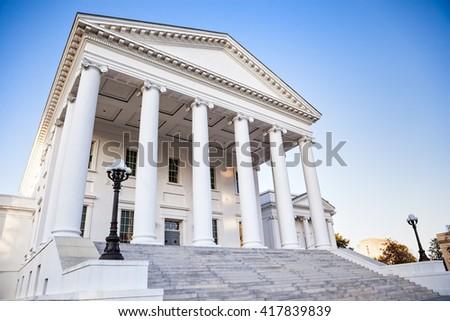 Virginia State Capitol building in Richmond Virginia - stock photo