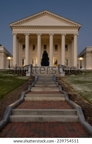 Virginia State Capitol in Richmond, Virginia - stock photo