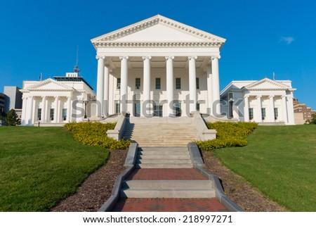 Virginia Statehouse building in Richmond, Virginia, USA - stock photo