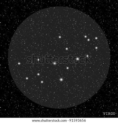 Virgo Zodiac Constellation - stock photo