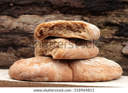 Virnschgauer, unleavened bread - stock photo