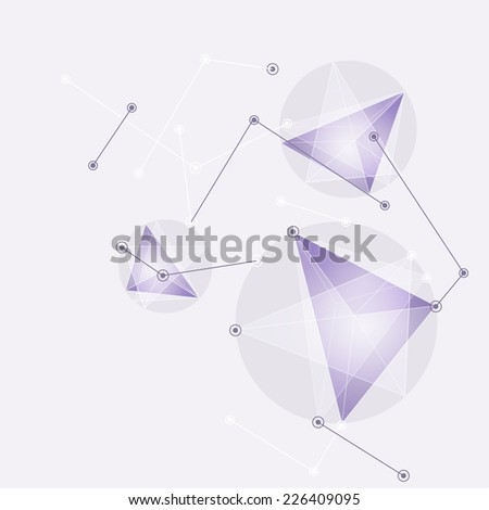Virtual abstract background with particle,  molecule structure. genetic and chemical compounds. creative vector. Space and constellations. Science and connection concept. Social network. - stock photo