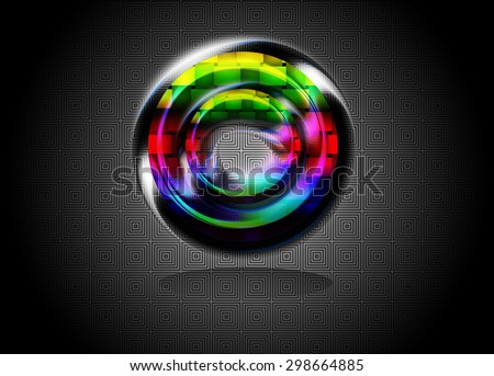 Virtual background, geometric shapes in space. - stock photo