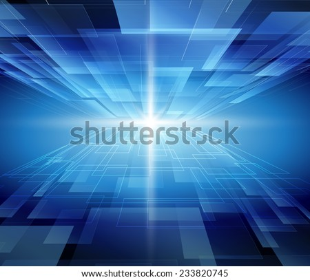 Virtual Blue technology Background Abstract