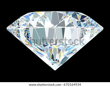 Virtual Facets Pattern Roundcut Diamond Standing Stock Illustration