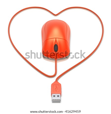 Virtual love - stock photo