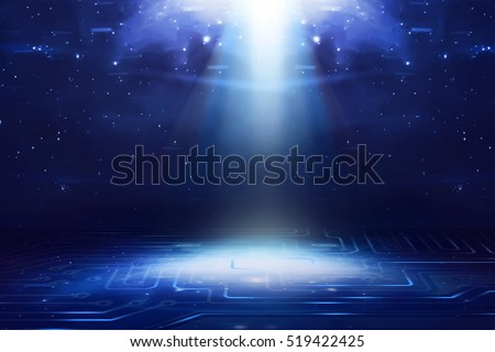 Virtual outer space. Cyberspace background. You can put your design on this image