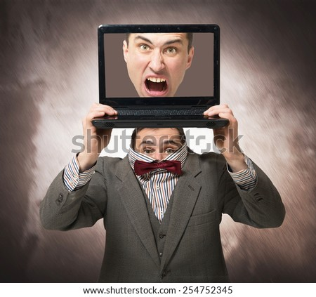 Virtual personality concept - stock photo