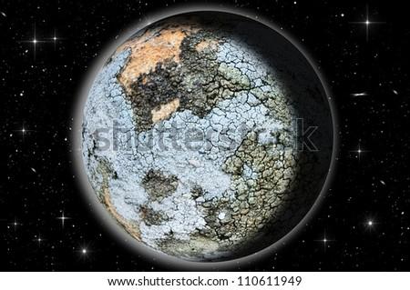 Virtual Planet - stock photo