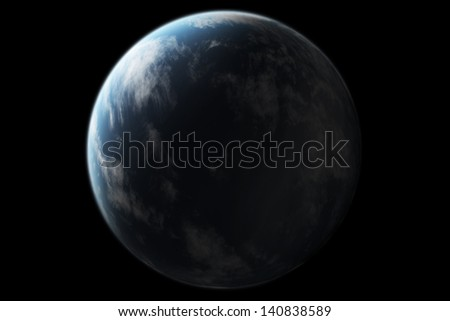 Virtual planet. - stock photo