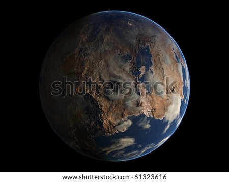 Virtual Planets Desertic Earth-Like Planet 03 - stock photo
