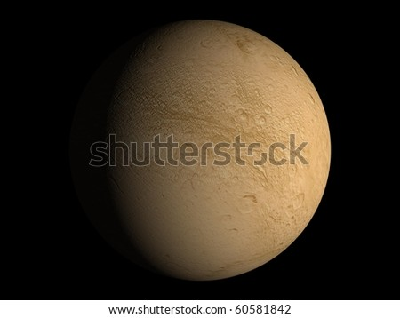 Virtual Planets Dione Moon 01 - stock photo