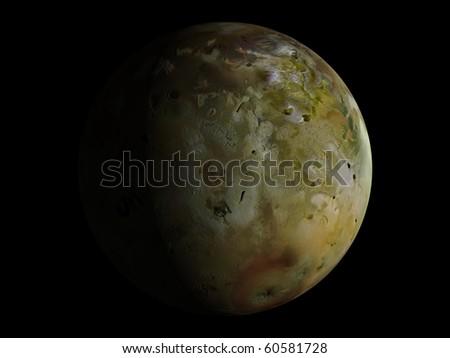 Virtual Planets Io Moon 03 - stock photo