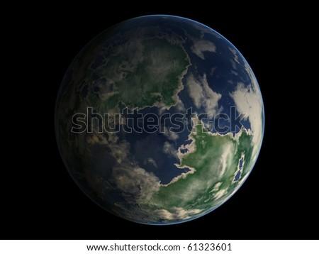 Virtual Planets Jungle Earth-Like Planet 01 - stock photo