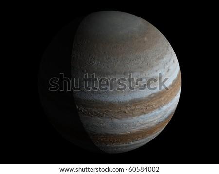 Virtual Planets Jupiter Planet 03 - stock photo