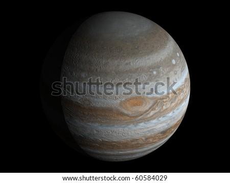 Virtual Planets Jupiter Planet 01 - stock photo