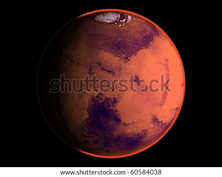 Virtual Planets Mars Planet 01 - stock photo