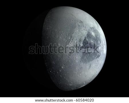 Virtual Planets Pluto Planet 03 - stock photo