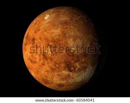 Virtual Planets Venus Planet 01 - stock photo