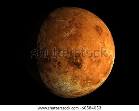 Virtual Planets Venus Planet 02 - stock photo