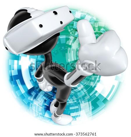 Virtual Reality - stock photo