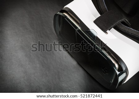 virtual reality glasses on a black background