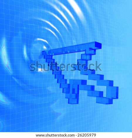 virtual reality, point of contact - stock photo
