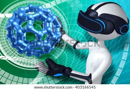 Virtual Reality VR - stock photo