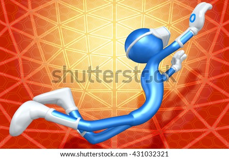 Virtual Reality VR Glasses Headset Goggles Device 3D Illustration  - stock photo