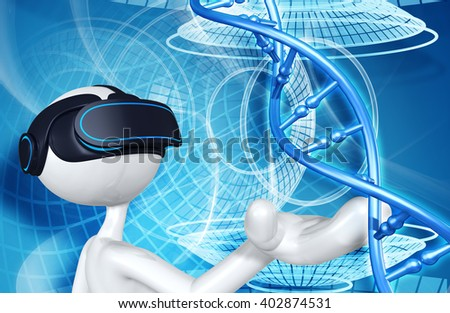Virtual Reality VR Goggles Glasses Headset Device 3D Illustration