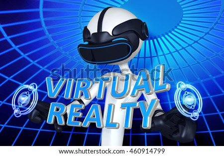Virtual Reality VR Realty 3D Illustration