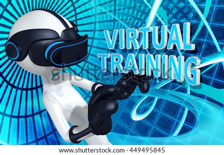 Virtual Reality VR Training 3D Illustration