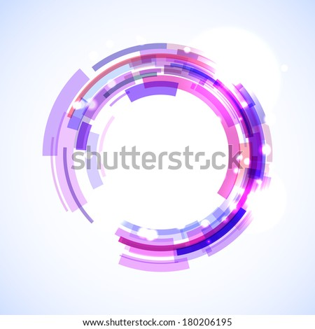 Virtual technology circle with space for your business message - stock photo