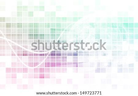 Virtual Technology with Data Filtering Web Art - stock photo