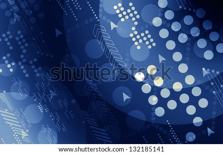 Virtual Technology with Data Network - stock photo