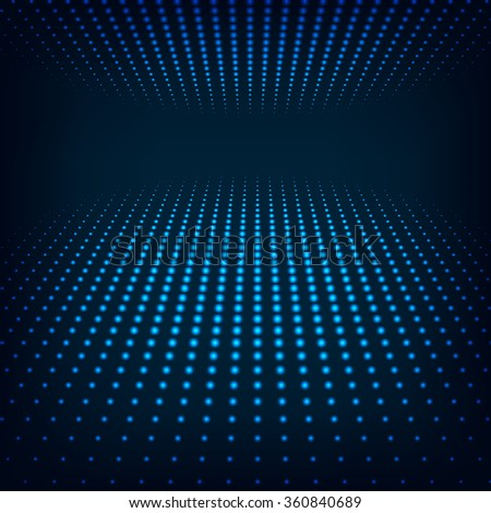 Virtual tecnology background with glowing halftone dots - stock photo