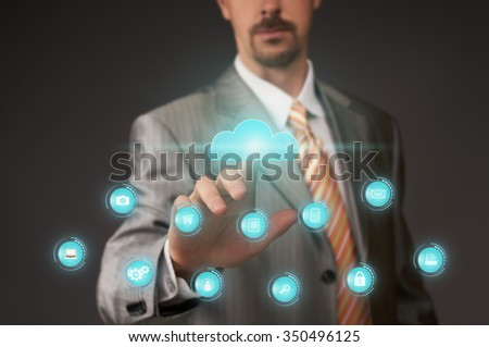 Virtual touch screen with cloud service