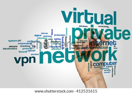 Virtuale private network concept word cloud background - stock photo